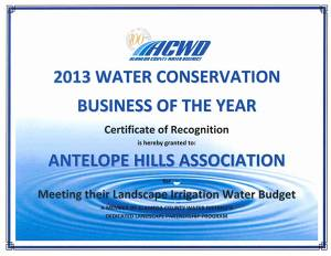 ACWD water conservation awards