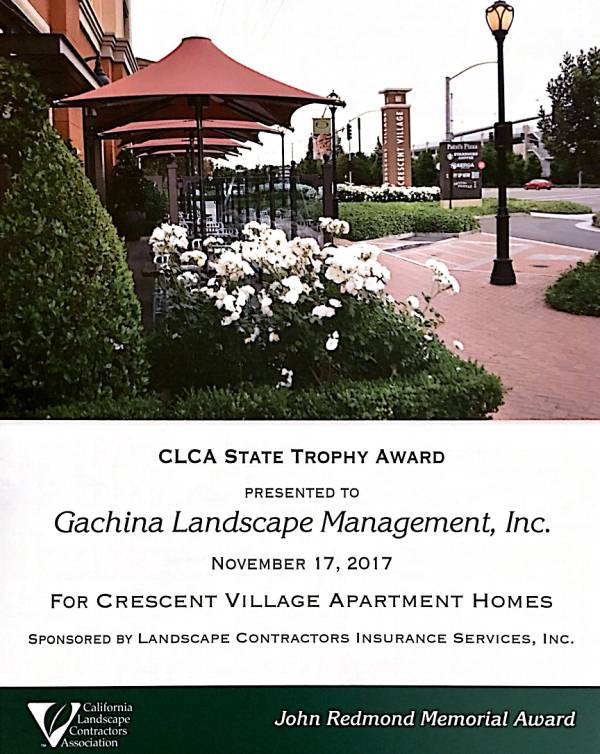 award winning landscaping - crescent village