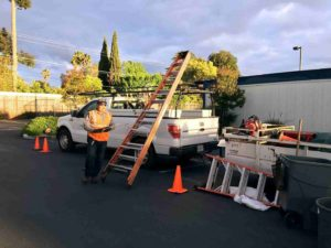 Gachina Landscape Management brought tools and equipment for Earth Day 2018 in Sunnyvale