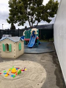 Cleaned up kid's area at Bright Beginnings in Sunnyvale