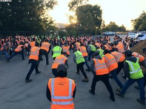 Safety awareness stretching
