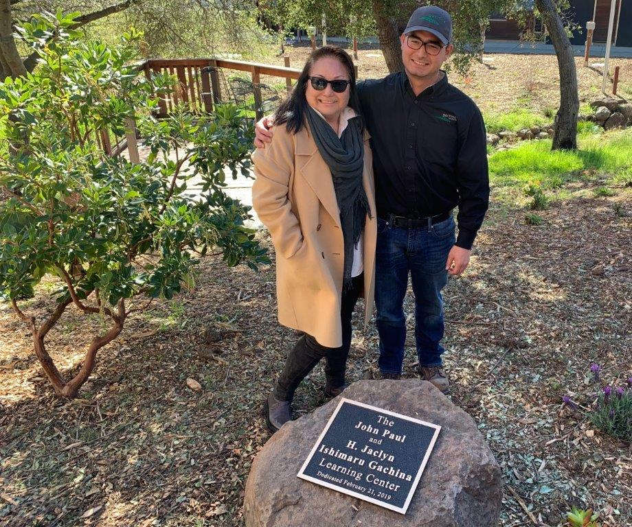 Jackie and Dominic Gachina at dedication at Foothill College, Los Altos, CA