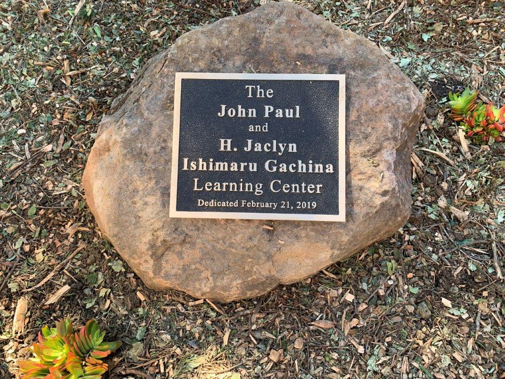 John & Jackie Learning Center plaque