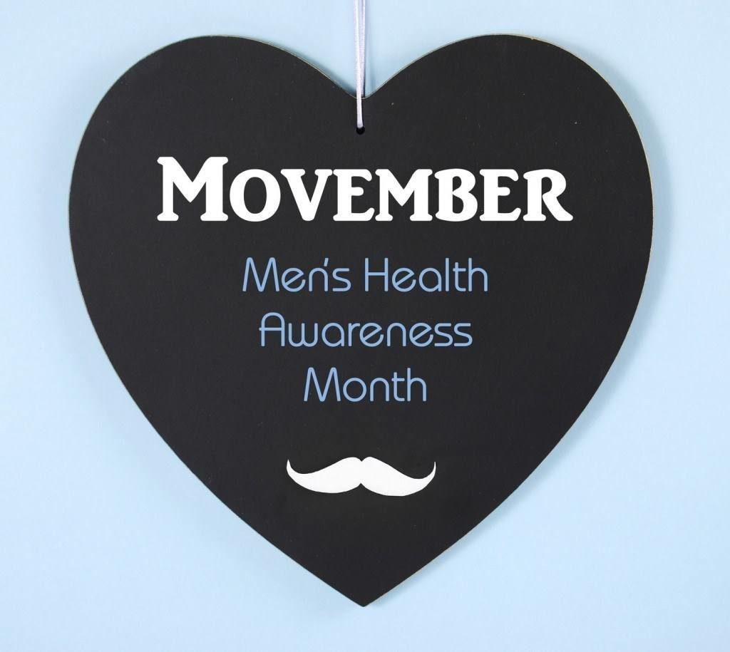 Movember logo - Men's Health Awareness Month
